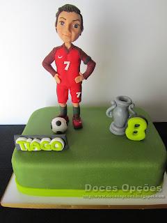O Cristiano Ronaldo no 8º aniversário do Tiago
