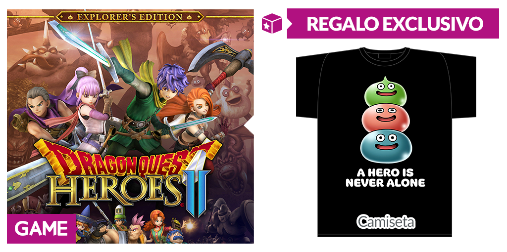No te quedes sin esta exclusiva camiseta de Dragon Quest Heroes II de la reserva en GAME