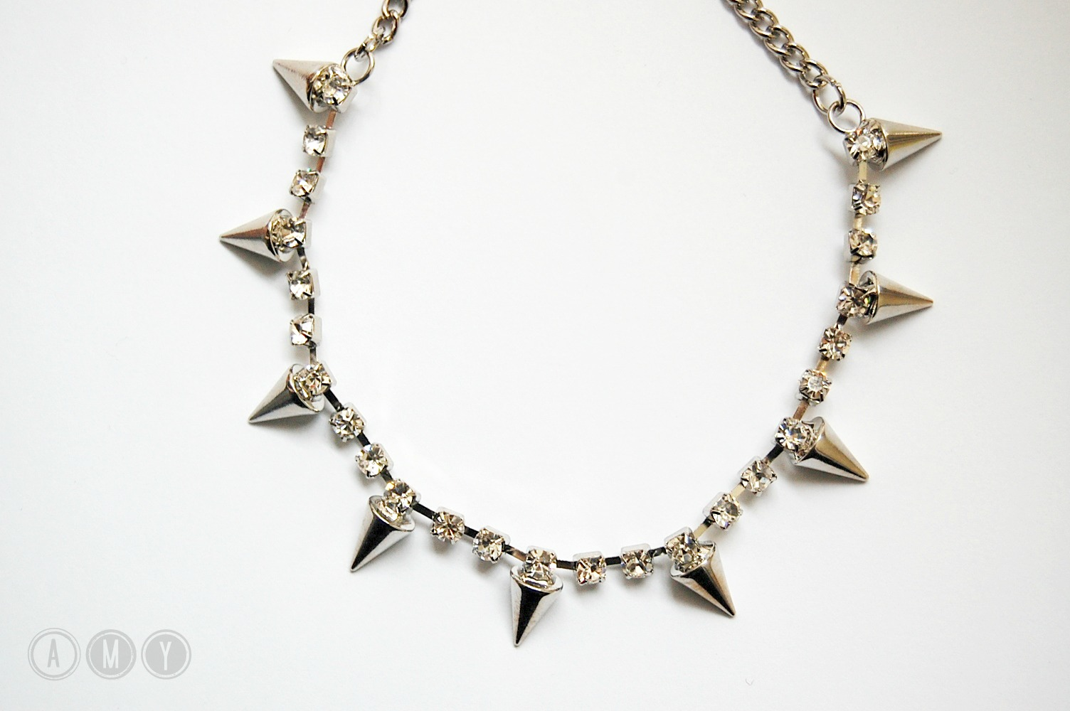 Miss Selfridge || Spike Rhinestone Collar