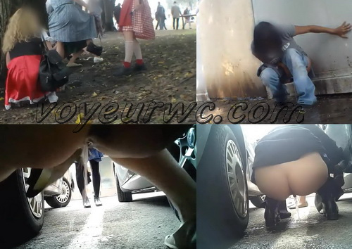 Beer Festival Piss 2015_030 (Lots of girls secretly filmed peeing outdoors by voyeur hunter at beer festival)