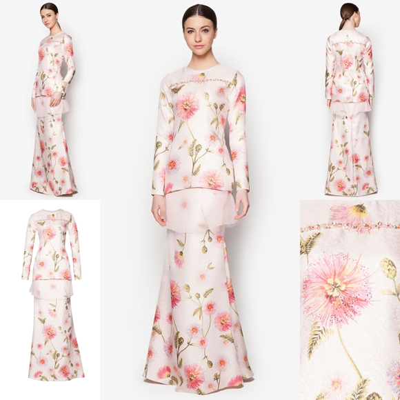 Fesyen Trend Terkini Bianco Mimosa Sphera Baju Kurung Moden Raya 2017