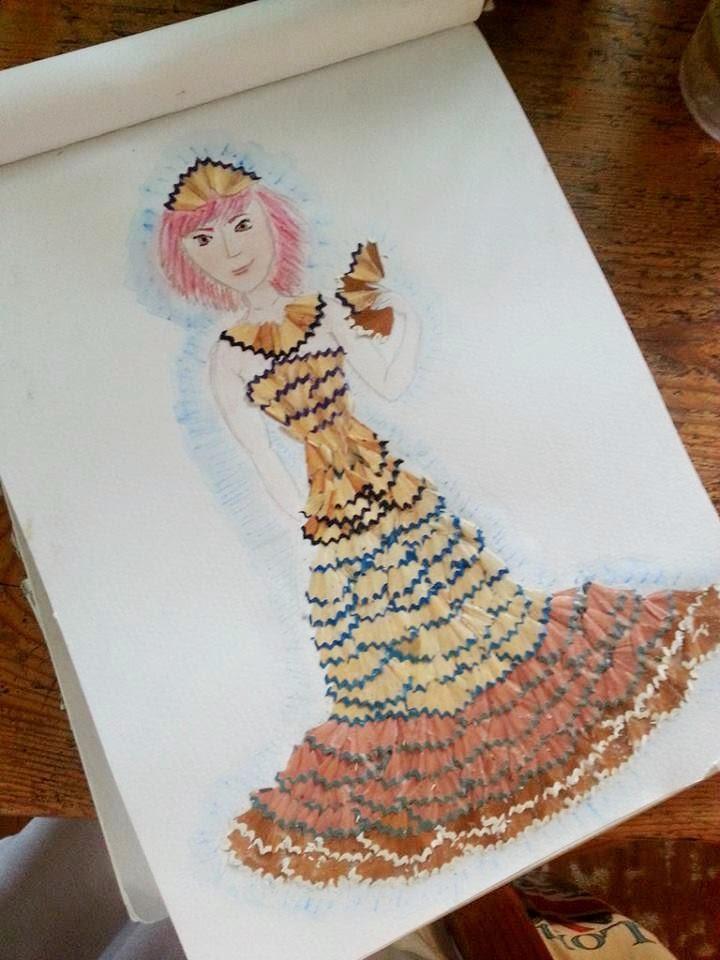 Pencil Shaving Art On Dress