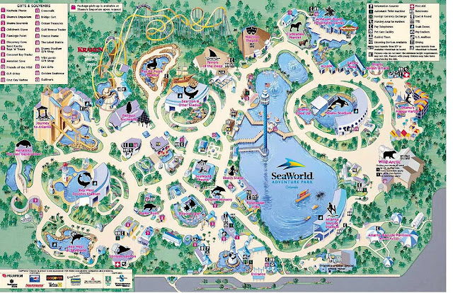 SeaWorld Orlando Mapa
