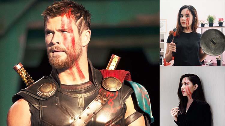 Berfoto Ala Thor Ragnarok, 2 Seleb Ini Sampaikan Pesan Semangat