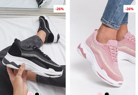 Adidasi moderni 2019 cu talpa groasa negi , albi de calitate