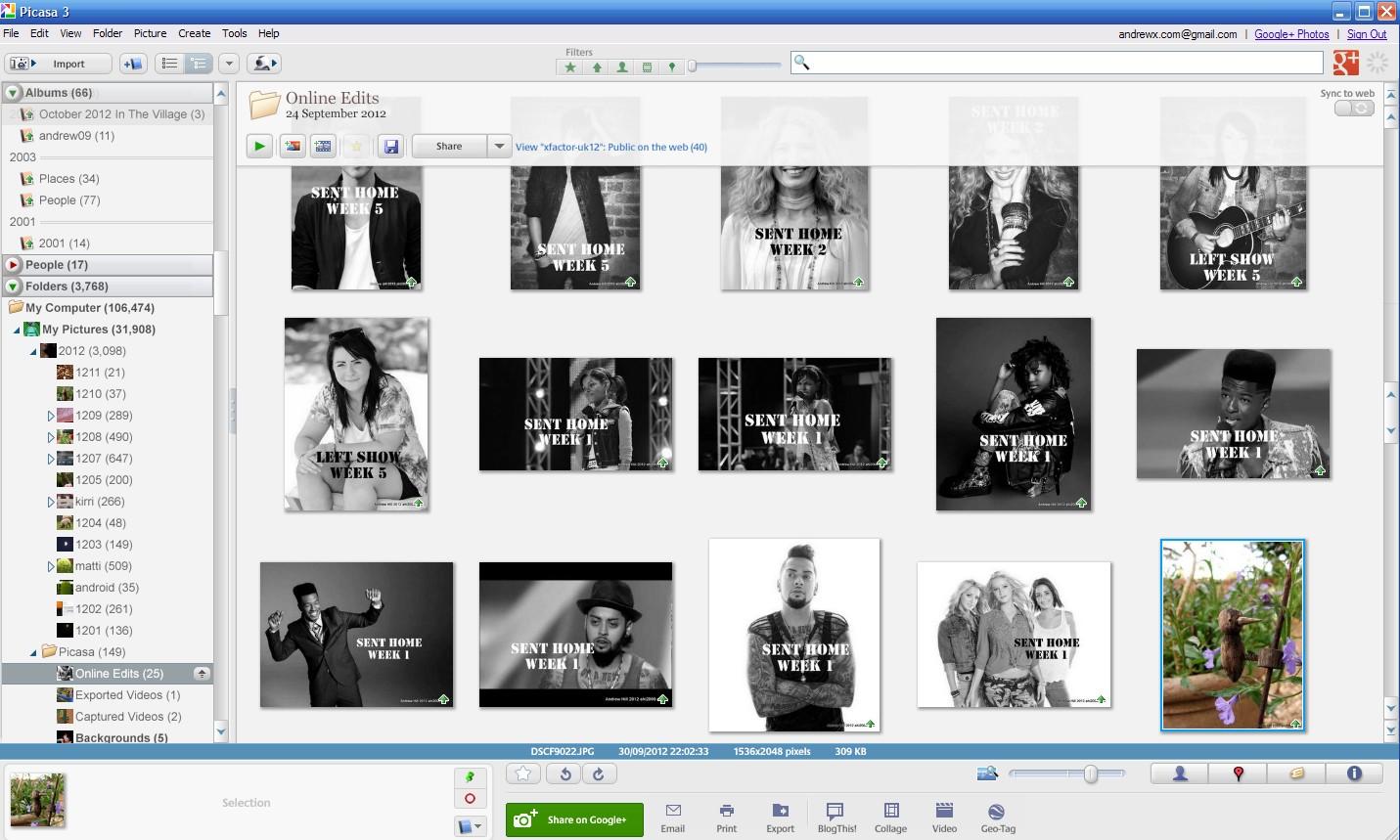 FAQICA: Picasa Edit Picnik Google+ Photos Web Albums Local
