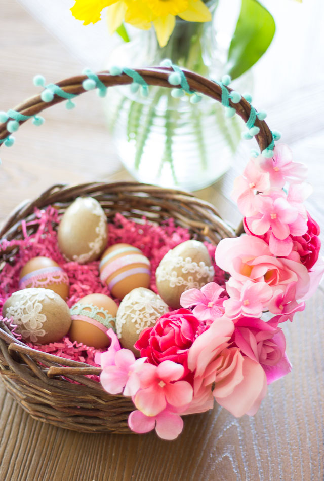 How to make DIY floral easter baskets