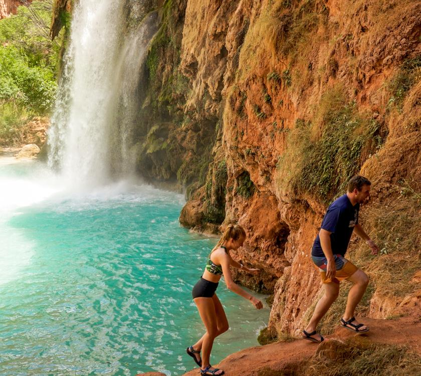 Couple at Havasu Falls
