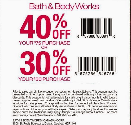 Printable coupons for bed bath and body works
