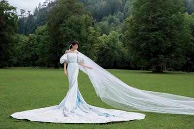 Caroline Sieber and fritz von westenholz wedding dress