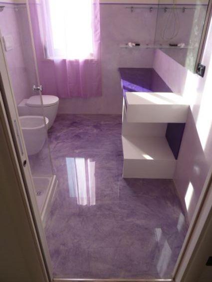 Gena design resina per pavimenti e rivestimenti - Pavimento resina bagno ...