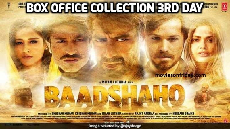 Baahshaho 3rd Day Box Office Collection