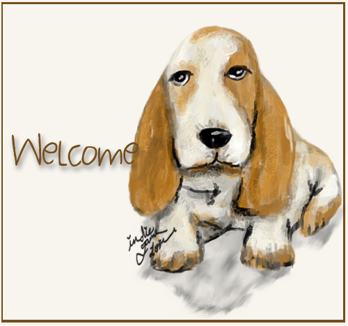 welcome dog art