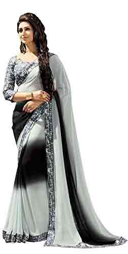 Georgette sarees below 1000 from Amazon