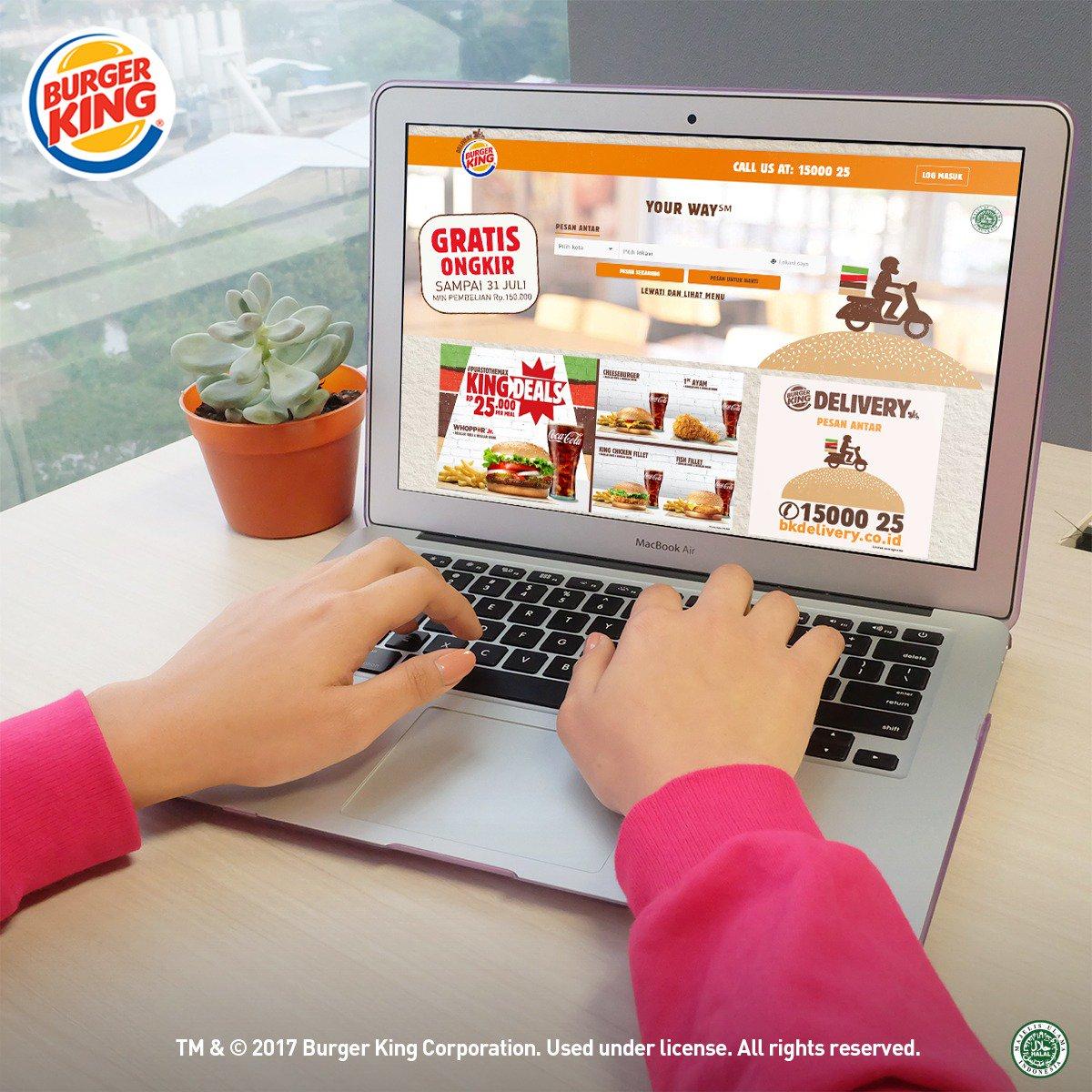 BurgerKing - Voucher Delivery Gratis Ongkir & Gratis 2 Ayam