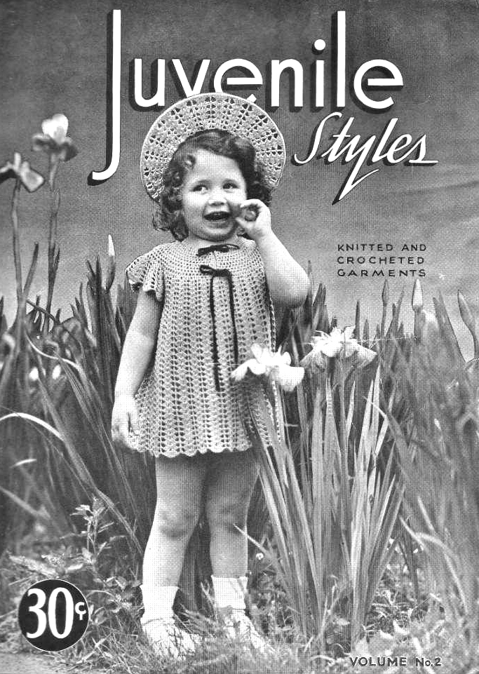 Free 1940's Knitting & Crochet - Juvenile Styles Vol. 32 Children