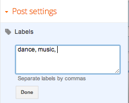 Label your posts