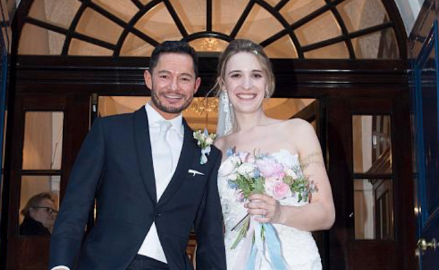 TRANS COUPLE WED Transgender Army officer Hannah Winterbourne weds actor Jake Graf – who used to be a woman