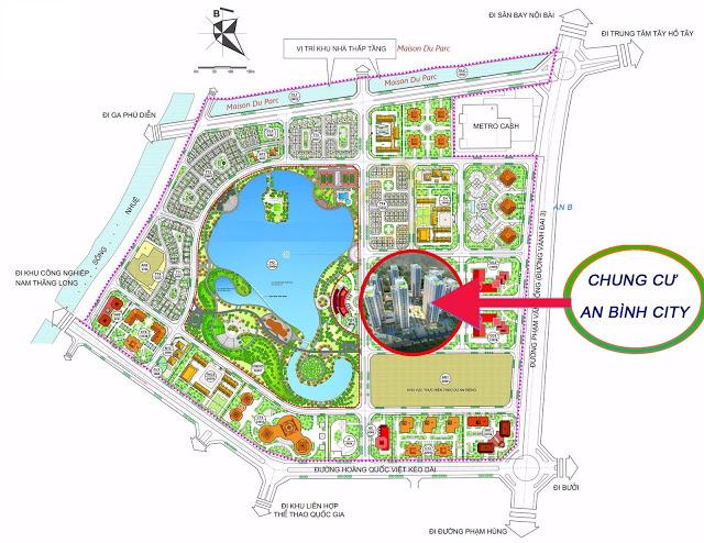 Vị trí an bình city tại khu đô thị thành phố Giao Lưu