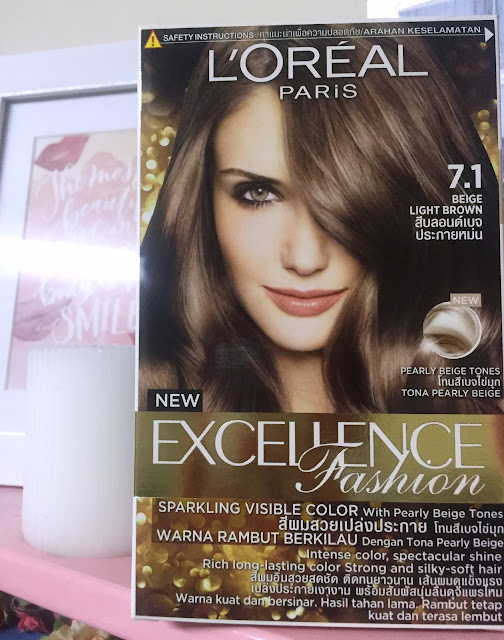 a photo of L'Oreal Paris Excellence Fashion in 7.1 Beige Light Brown