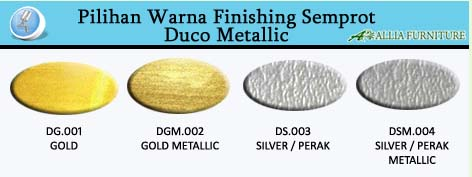 Pilihan Warna Finishing Cat Duco emas dan Perak
