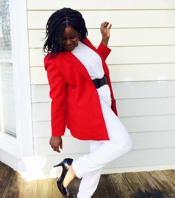 how to wear a red blazer jacket