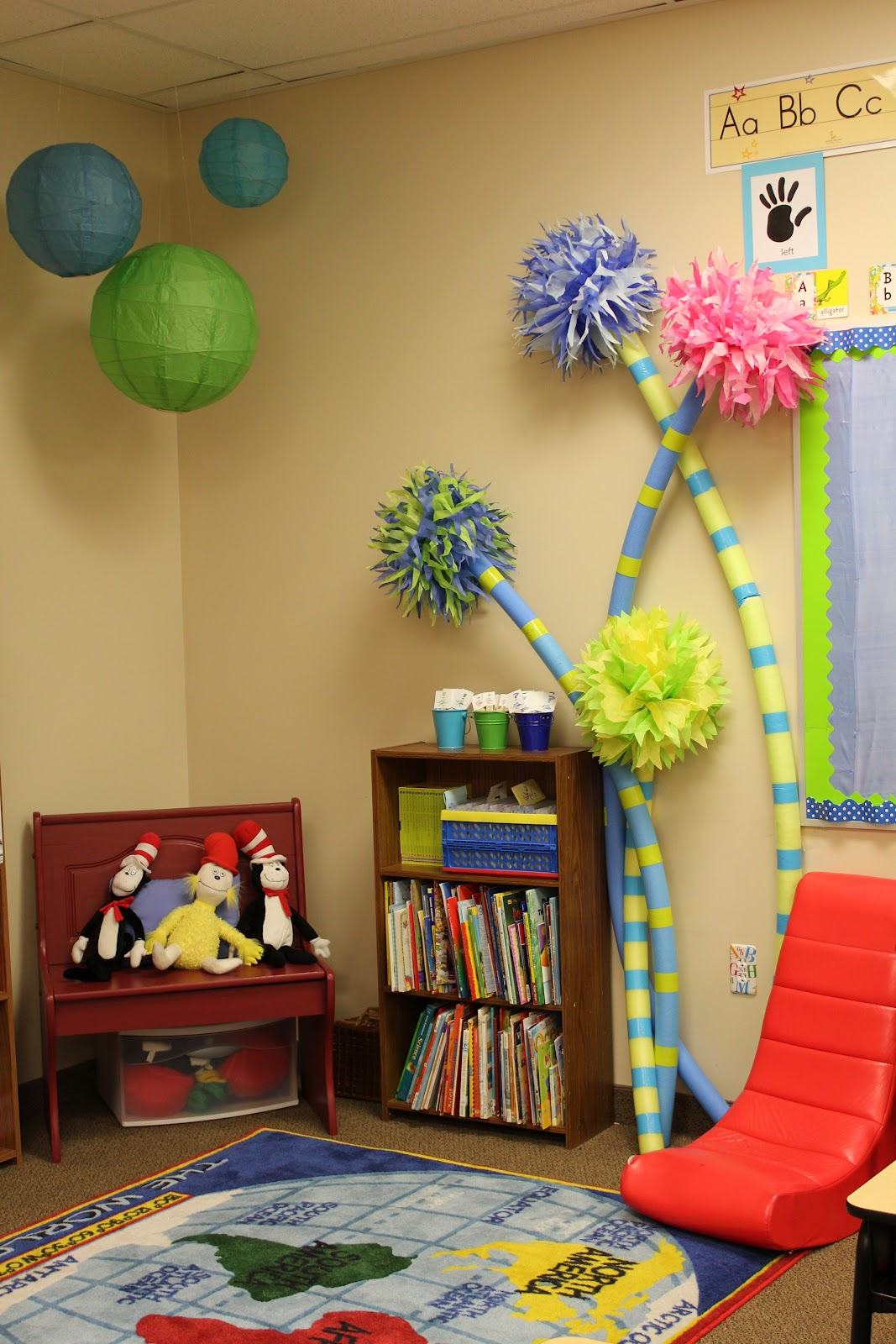 Dr Seuss Classroom Theme Photos Finally on Pinterest Dr Seuss Door