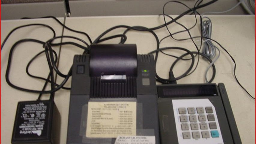 Payment Terminal - Old Credit Card Machine