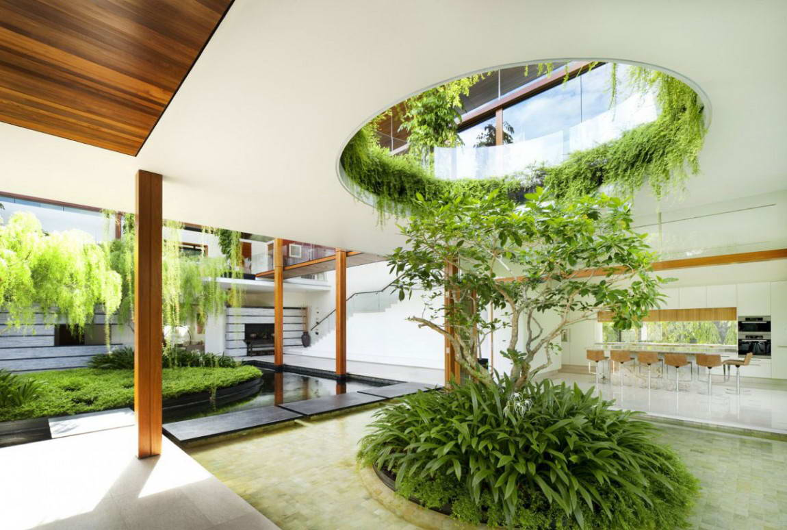 80 Desain Taman Indoor Paling Keren Dan Sejuk Rumahku Unik