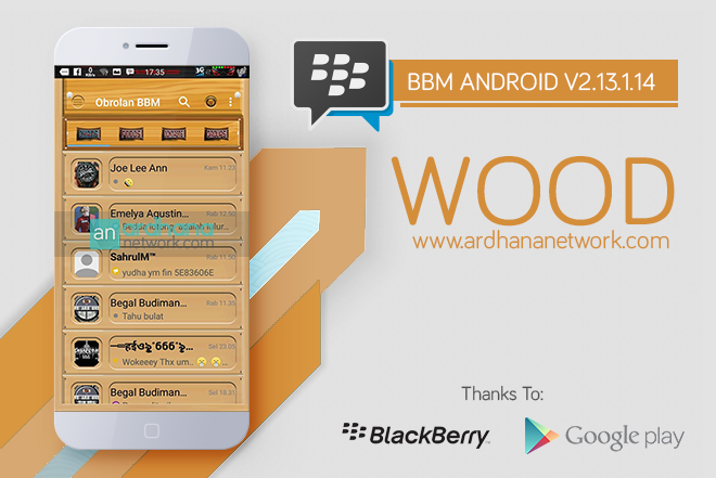 BBM WOOD V2.13.1.14 - BBM Android Terbaru Tema Kayu