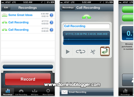 graba todo tipo de audio desde tu iPhone con Recorder for iPhone