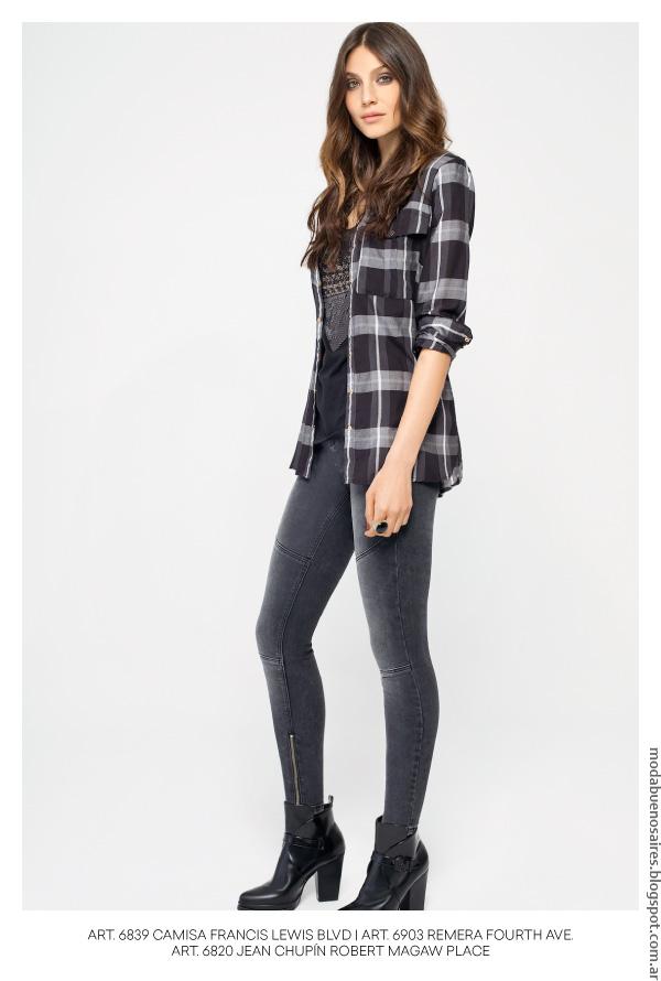 Moda invierno 2016 camisas de mujer. Looks tendencia invierno 2016 MAB.