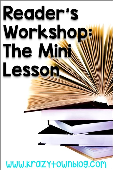 Learn about the steps in a mini-lesson for reader's workshop.