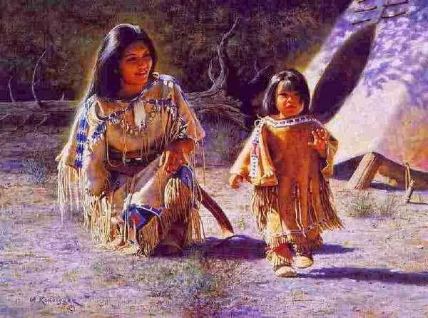 love, meditation, spirits, mother and child, planting seeds, native american