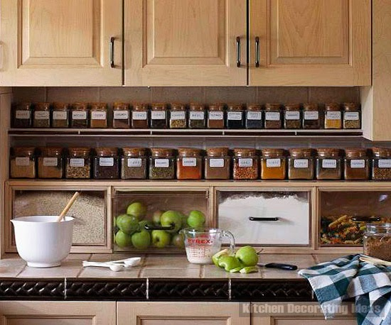 10 spice storage ideas and solutions for small kitchens. Black Bedroom Furniture Sets. Home Design Ideas