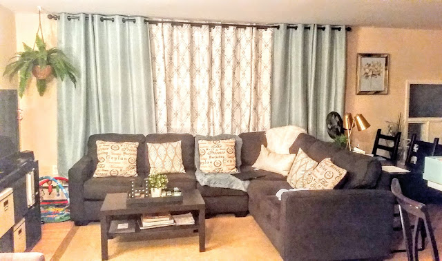 alenya sectional sofa couch dark gray living room blue curtains double rod after micke desk