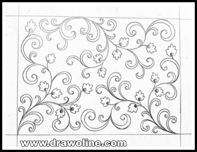 All over design patterns/jall khaka drawing for hand embroidery/jaal khaka for embroidery