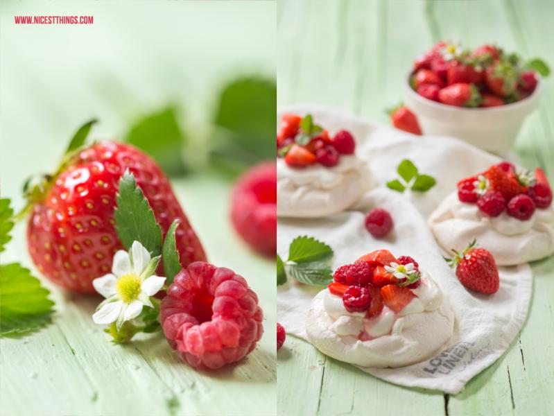 Pavlova Rezept Pavlova Torte Erdbeeren Himbeeren Sahne baiser #pavlova #meringue #baiser #torte #sahne #pavlovarezept #erdbeeren #himbeeren