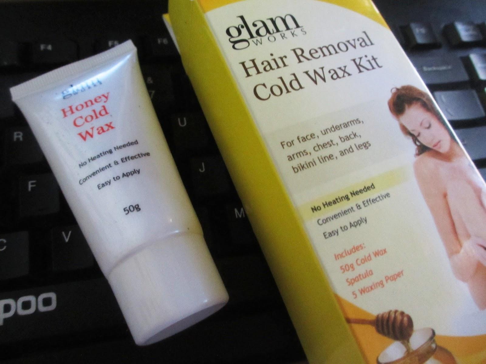 Glam Works Honey Cold Wax Product Test
