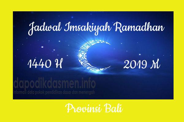Jadwal Imsakiyah Ramadhan Provinsi Bali