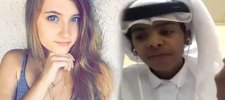 Abu Sin and US vlogger Christina Crockett