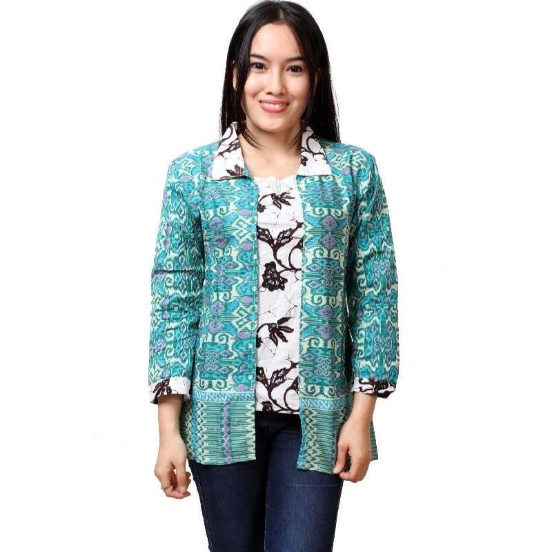 Model Batik Kerja Lengan Panjang Wanita: 10 Model Batik Kerja Wanita Lengan Panjang, Cantik!