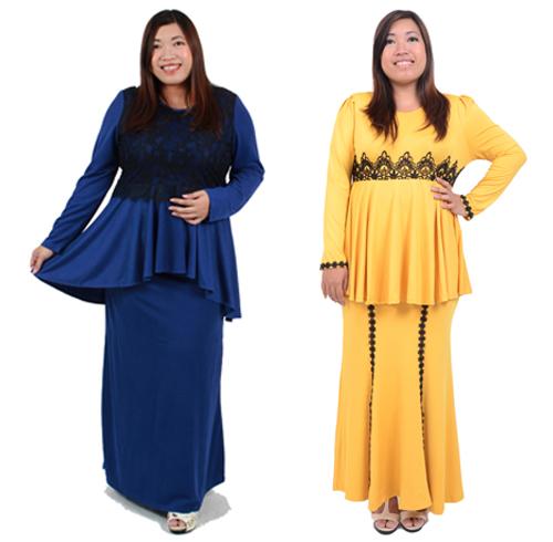 model baju kurung untuk orang gemuk