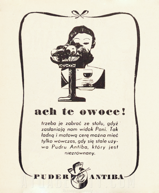 Ach te owoce! Reklama prasowa, 1937.