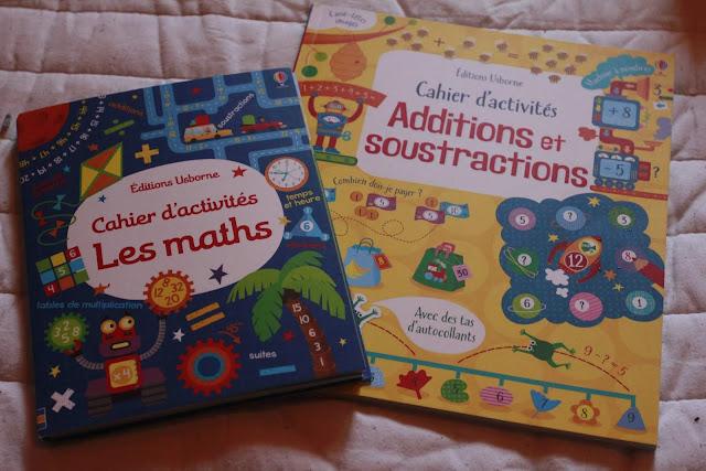 cahier d'activités mathématiques additions soustractions éditions usborne avis blog planete parentage