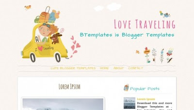 Love Traveling Blogger Templates