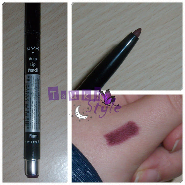 auto lip pencil Plum, nyx
