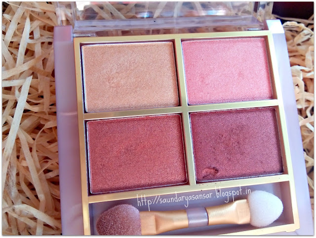 Lakme 9to5 Eye color Quartet in Desert Rose review