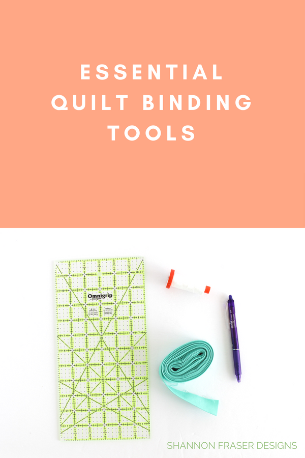 Essential tools for quilt binding | Quilt Binding Tutorial - Part 1 | Step by step instructions to create and attach your own quilt binding | Shannon Fraser Designs #quilttutorial