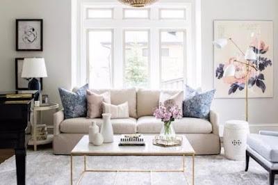gambar desain ruang tamu sederhana terbaru